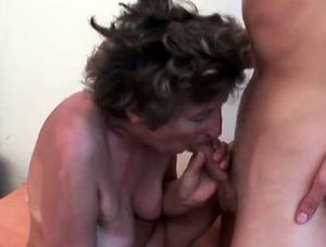 Hairy anal grannies