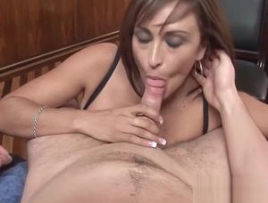Mature gives blowjob