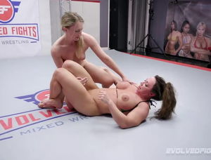 Men wrestling naked