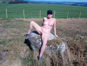 Naked milf outdoors