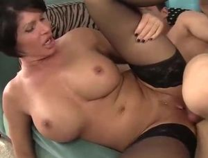 Mom having sex with son friend